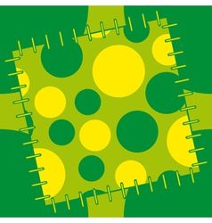 abstract patch vector image vector image