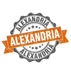 Alexandria round ribbon seal vector