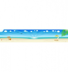 beach scene vector image