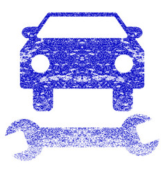 Car repair grunge textured icon vector