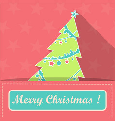 card with christmas tree in santa claus pocket vector image vector image