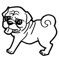 Cartoon dog coloring book vector