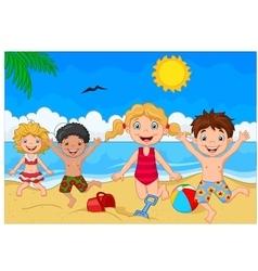 Cartoon summer day vector