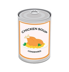 Chicken soup can vector image vector image