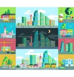 City life urban landscape vector