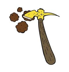 Comic cartoon pick axe vector