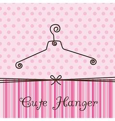 Cute hanger vector