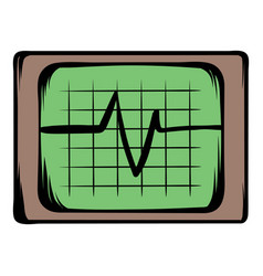 Electrocardiogram monitor icon cartoon vector