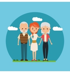 Family relationship avatar and generation design vector