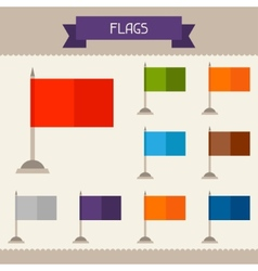Flags colored templates for your design in flat vector image vector image