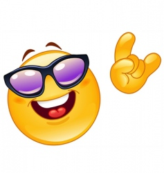 funky emoticon vector image vector image
