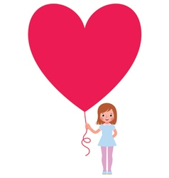 Girl presents a Valentine a heart vector image