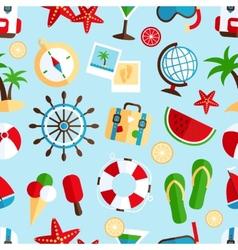 Holiday vacation seamless pattern vector image vector image