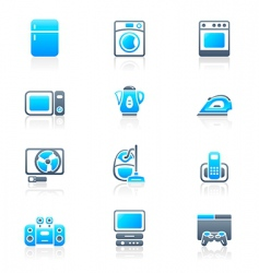 home electronics icons vector image vector image
