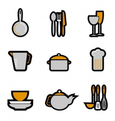 kitchenware object vector image
