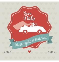 Married design wedding icon flat vector