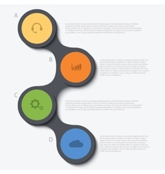 modern circle infographic background vector image