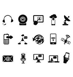 Modern communication icons set vector