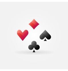 Poker icon or logo vector