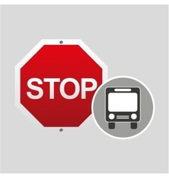 Public transport stop road sign design vector