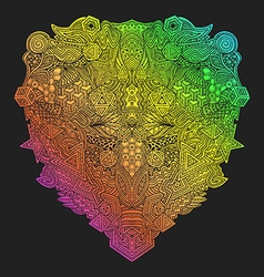 rainbow hand drawn decorative zentangle vector image vector image