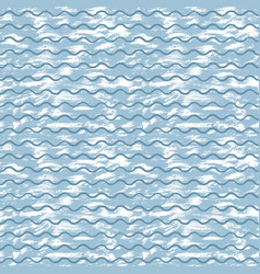 Sea background with blue waves and white strokes vector