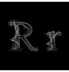Smoke font letter r vector