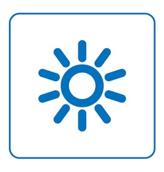 Sun icon cartoon sign vector