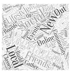 The social vegetarian word cloud concept vector