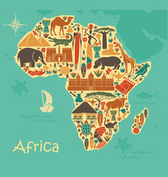 traditional symbols of africa in the form of a vector image vector image