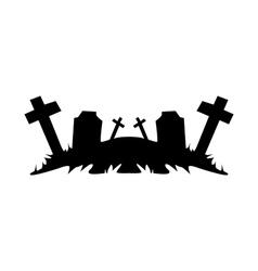 Cemetery ruins vector image