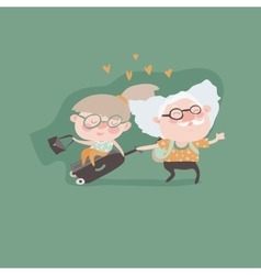 Travel in old age concept vector