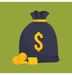 Icon insurance bag money design vector