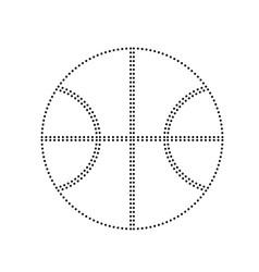 basketball ball sign black vector image
