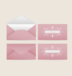 mail envelope blank paper envelopes vector image