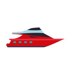 Sport yacht isolated vector
