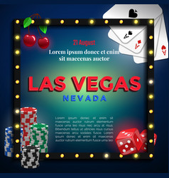 Las vegas background design vector