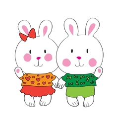 Cute bunny with love letter vector