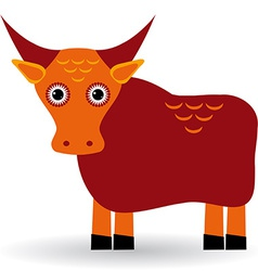 Cartoon of asian yak bull vector