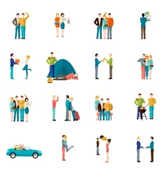 Friends icons set vector