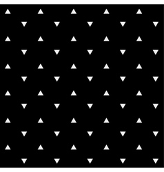 Pattern monochrome background simple triangle vector