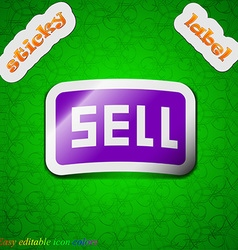 Sell contributor earnings icon sign symbol chic vector
