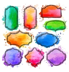 Watercolor frame vector