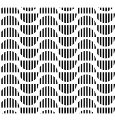 Black and white geometric stripe seamless vector