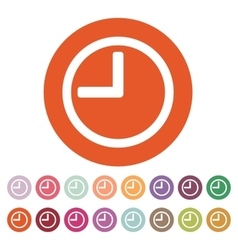 The time icon clock sound symbol flat vector