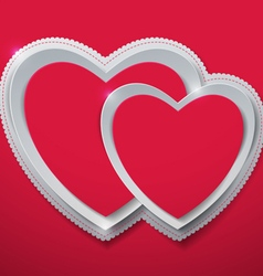 Valentines day hearts cut from paper vector