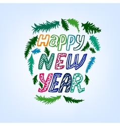 New year lettering background vector