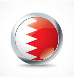 Bahrain flag button vector