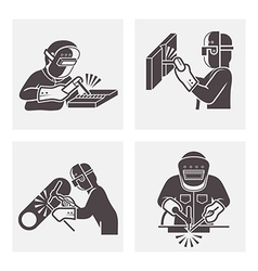 Welding icons vector