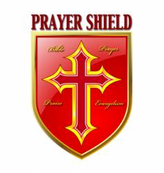 Prayer shield vector